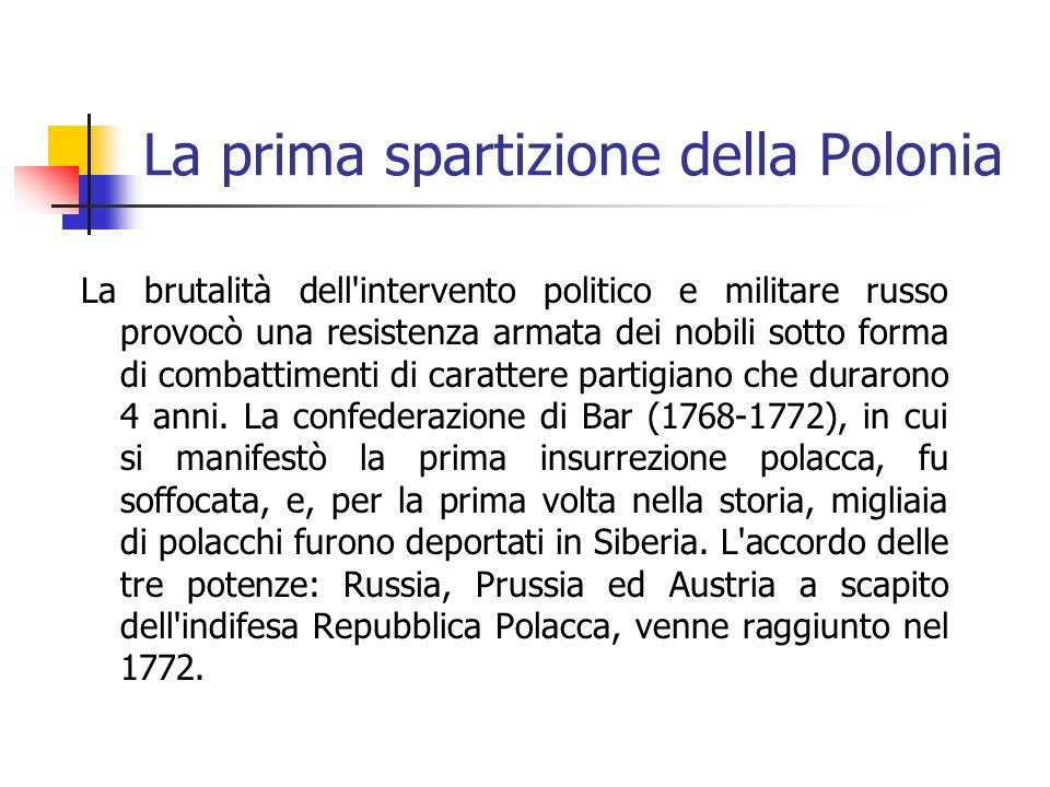 La prima spartizione della Polonia