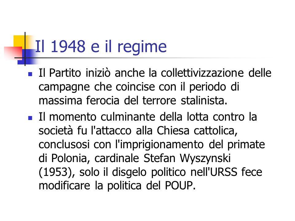 Il 1948 e il regime