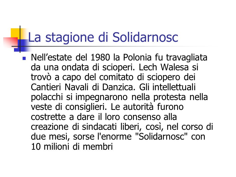 La stagione di Solidarnosc
