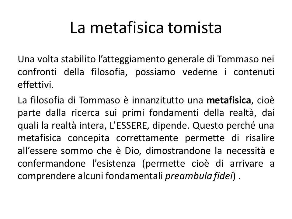 La metafisica tomista