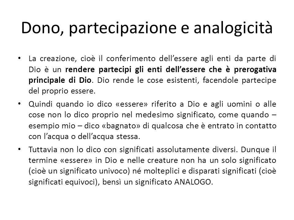 Dono, partecipazione e analogicità