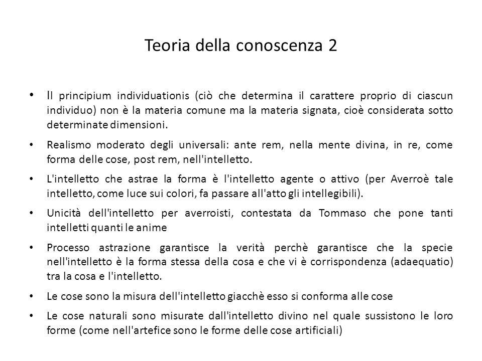 Teoria della conoscenza 2