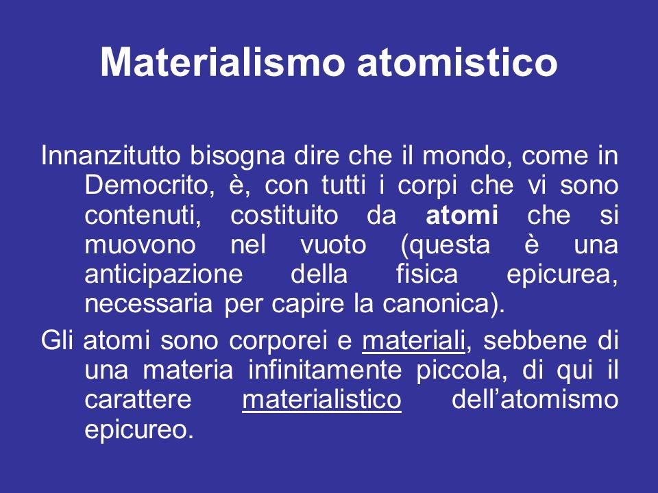 Materialismo atomistico