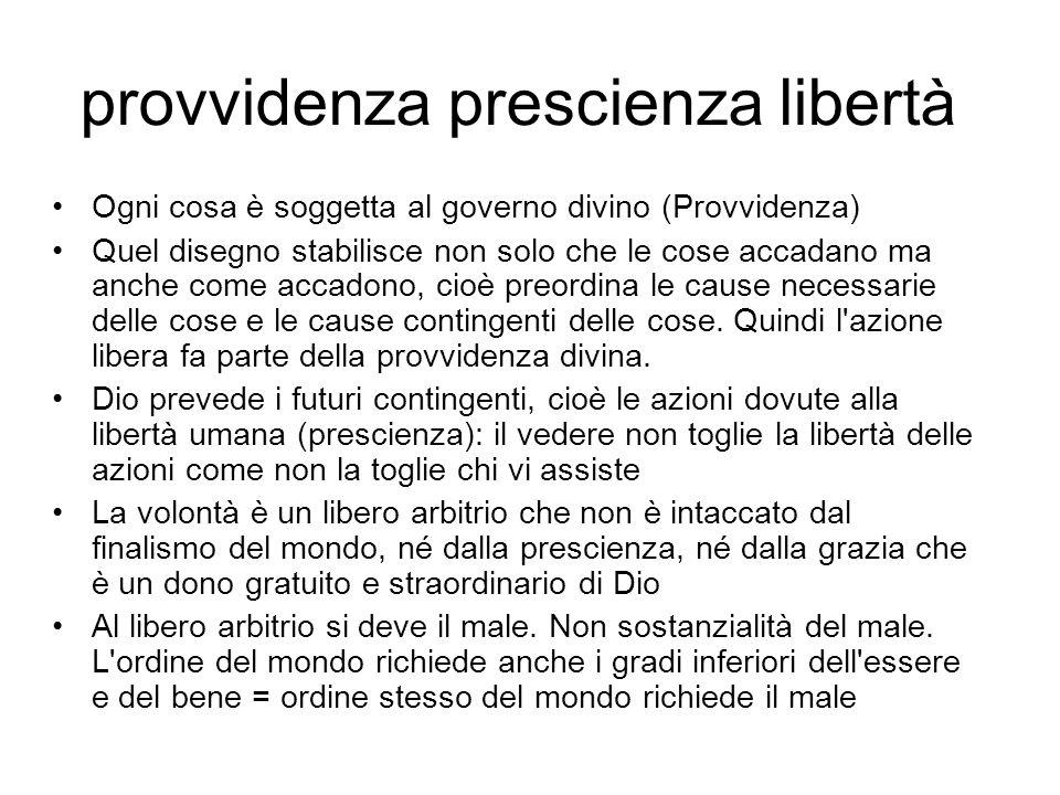 provvidenza prescienza libertà