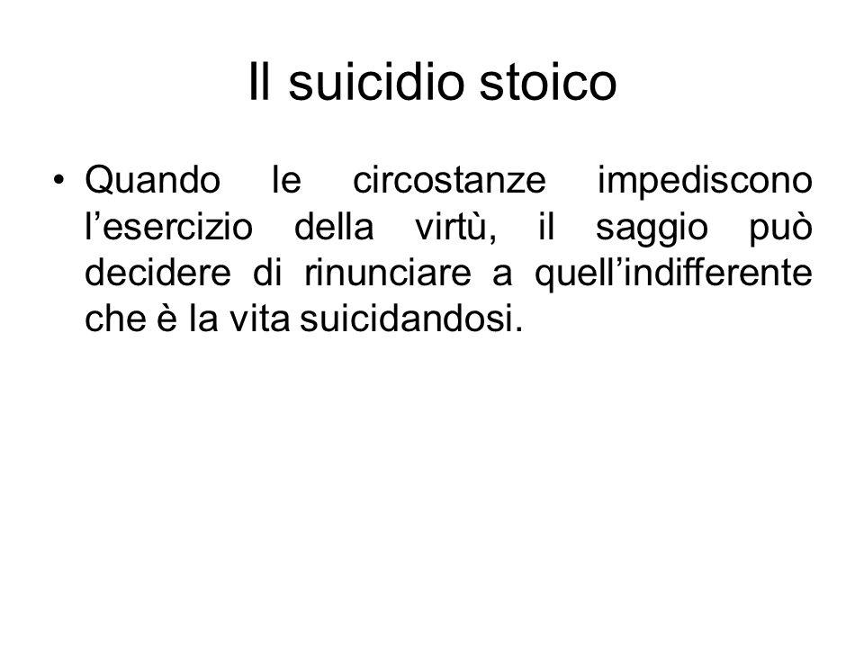 Il suicidio stoico
