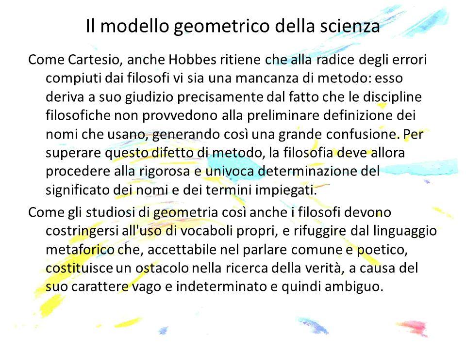 Il modello geometrico della scienza