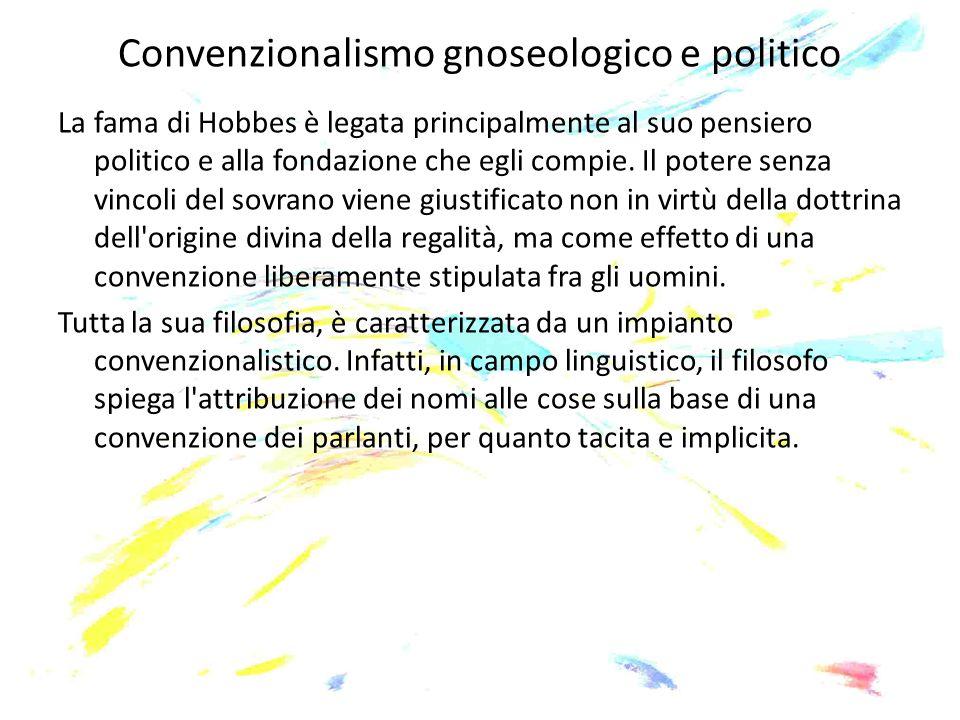 Convenzionalismo gnoseologico e politico