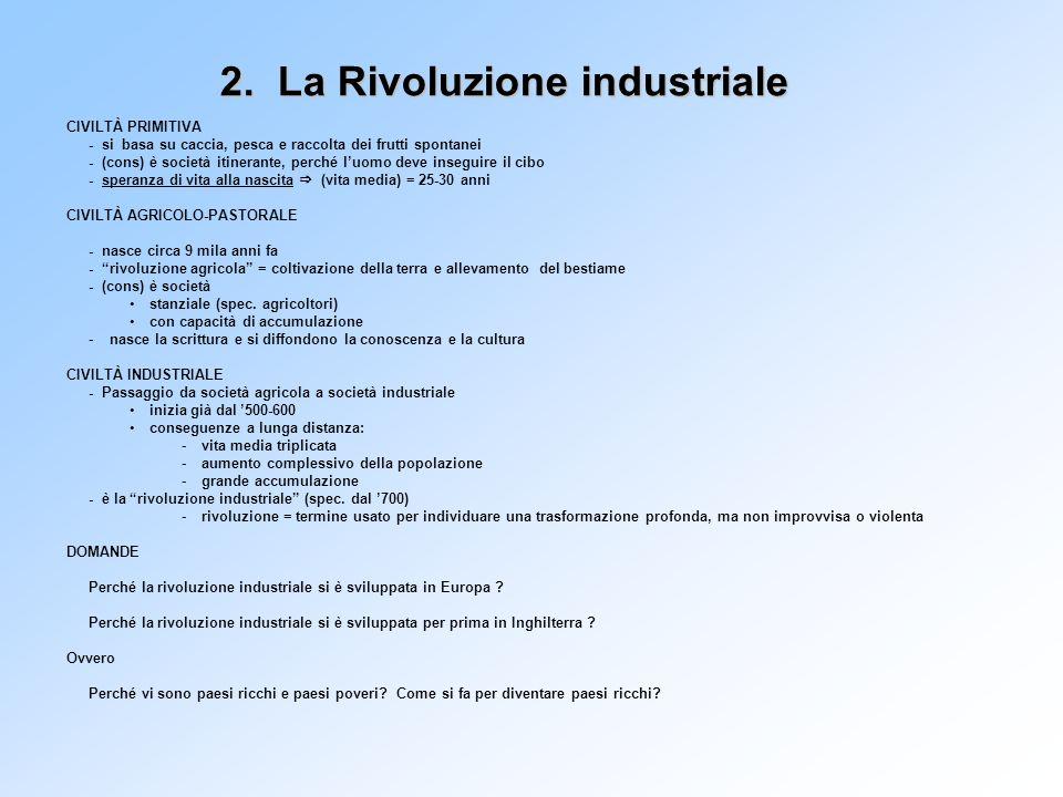 2. La Rivoluzione industriale