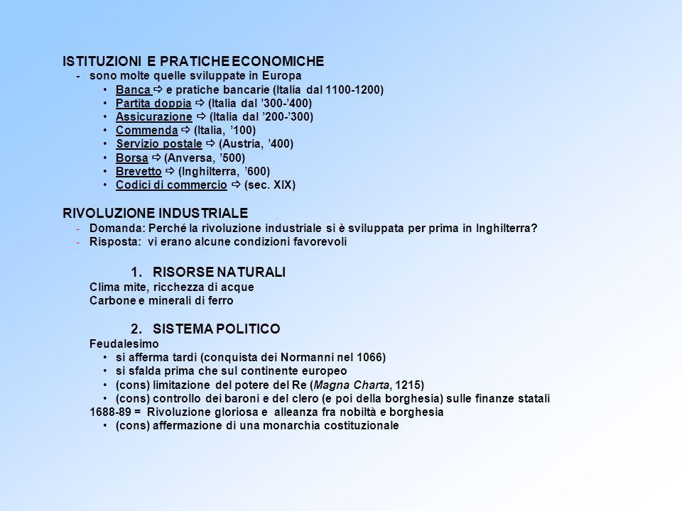 ISTITUZIONI E PRATICHE ECONOMICHE