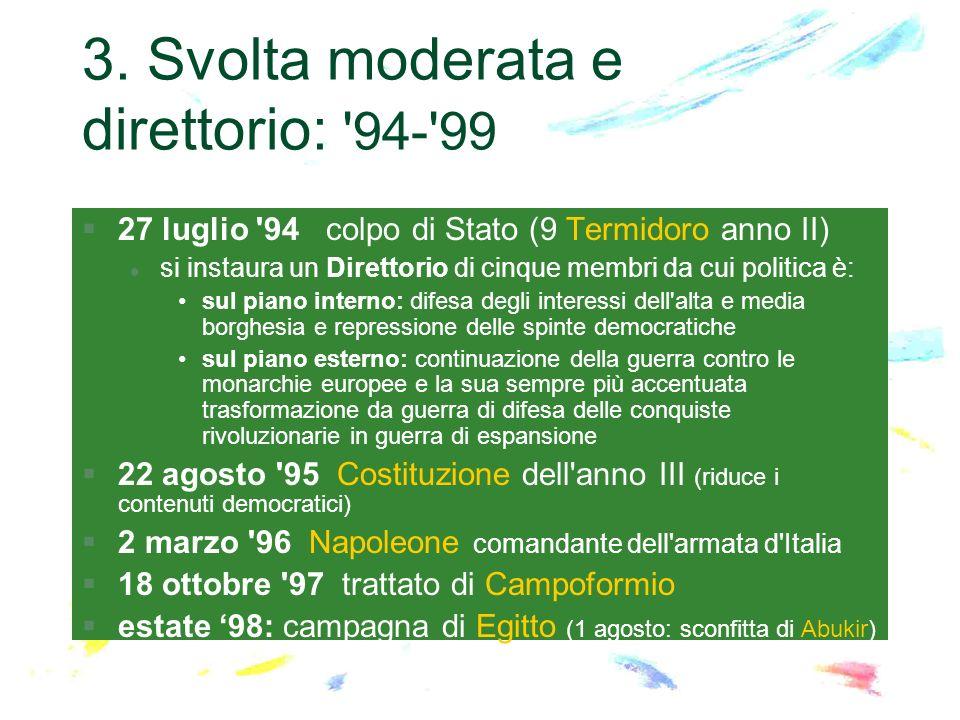 3. Svolta moderata e direttorio: 94- 99