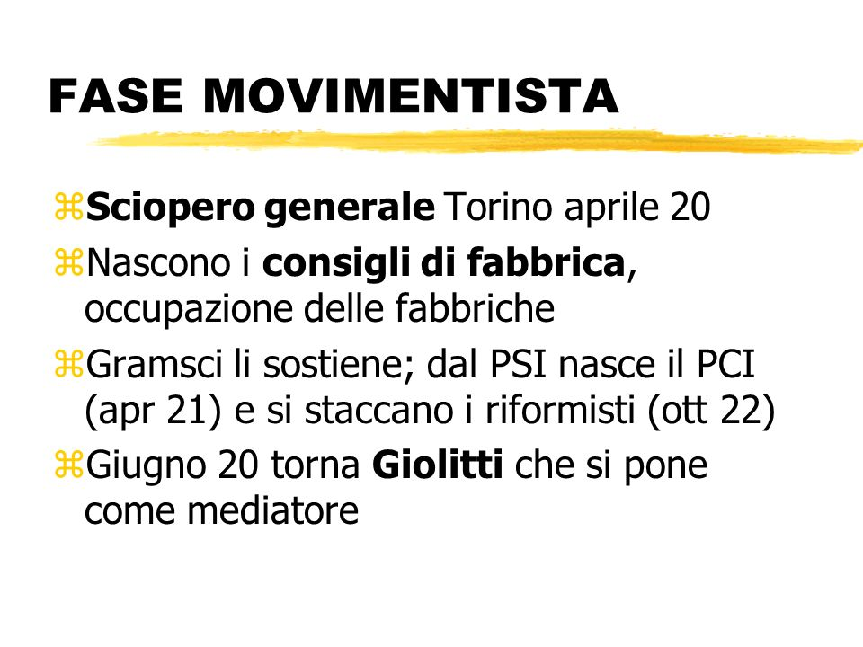 FASE MOVIMENTISTA Sciopero generale Torino aprile 20