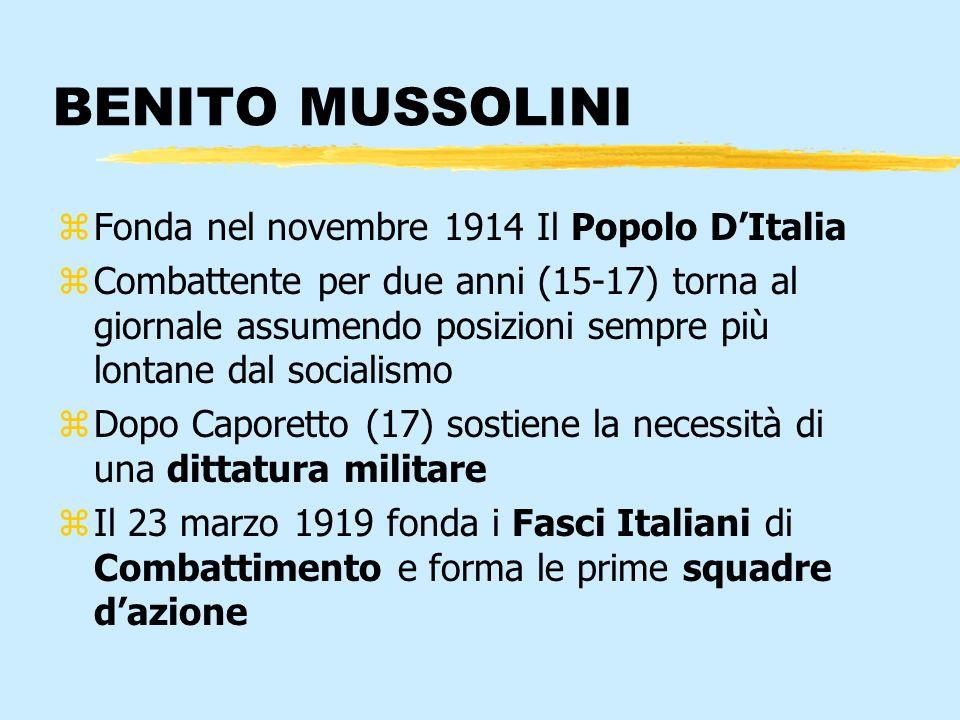BENITO MUSSOLINI Fonda nel novembre 1914 Il Popolo D'Italia