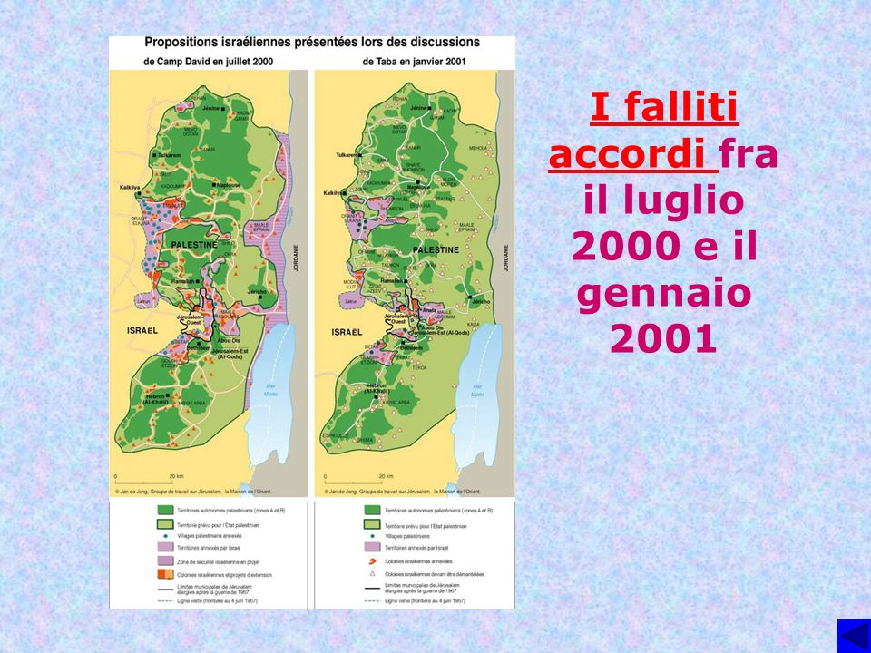 I falliti accordi fra il luglio 2000 e il gennaio 2001