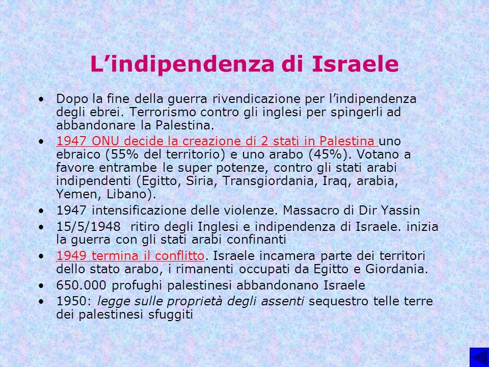 L'indipendenza di Israele