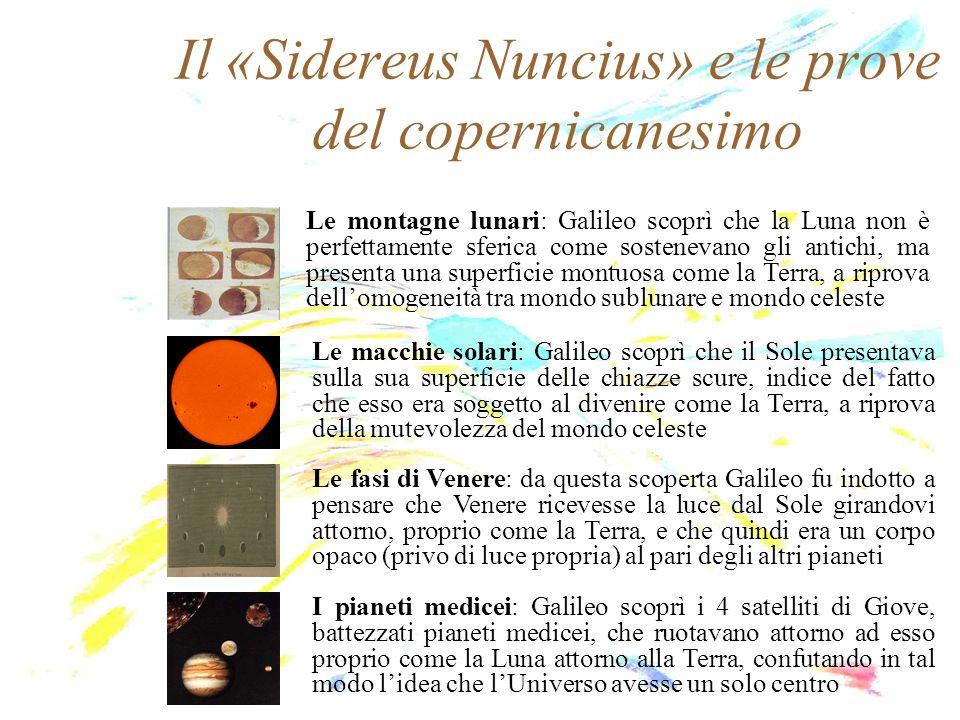 Il «Sidereus Nuncius» e le prove del copernicanesimo