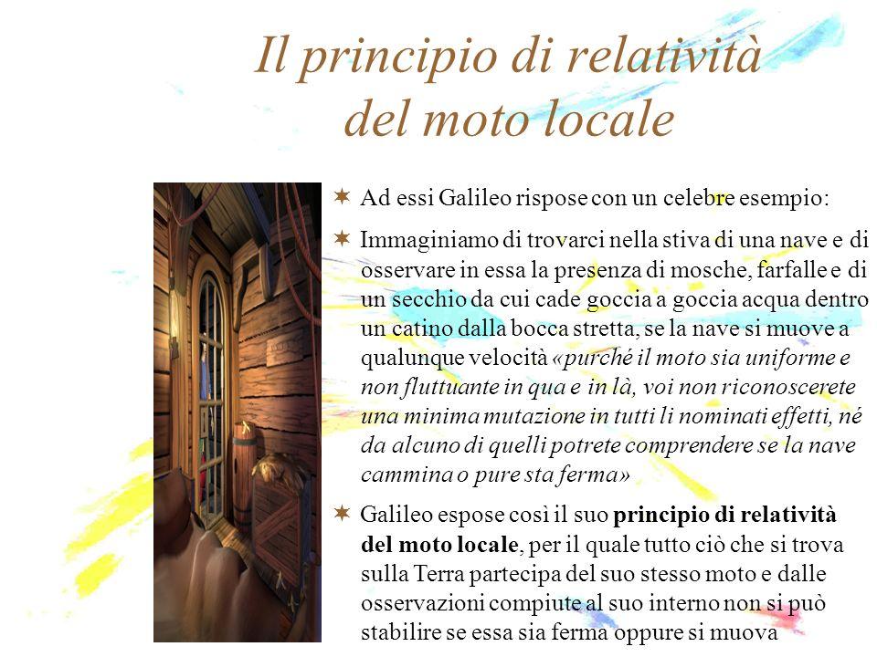 Il principio di relatività del moto locale