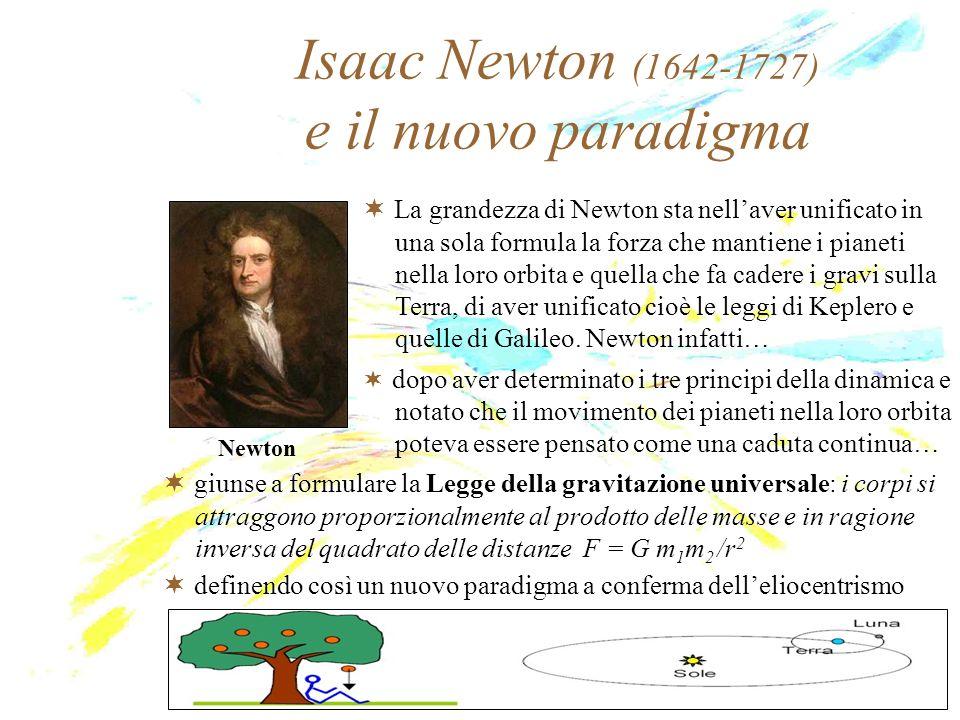 Isaac Newton (1642-1727) e il nuovo paradigma