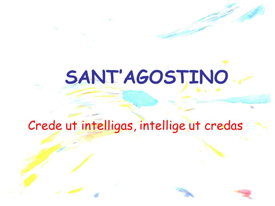 Crede ut intelligas, intellige ut credas
