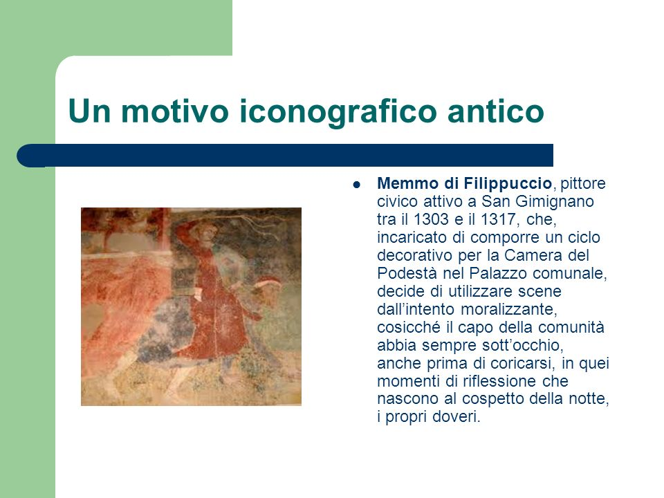 Un motivo iconografico antico
