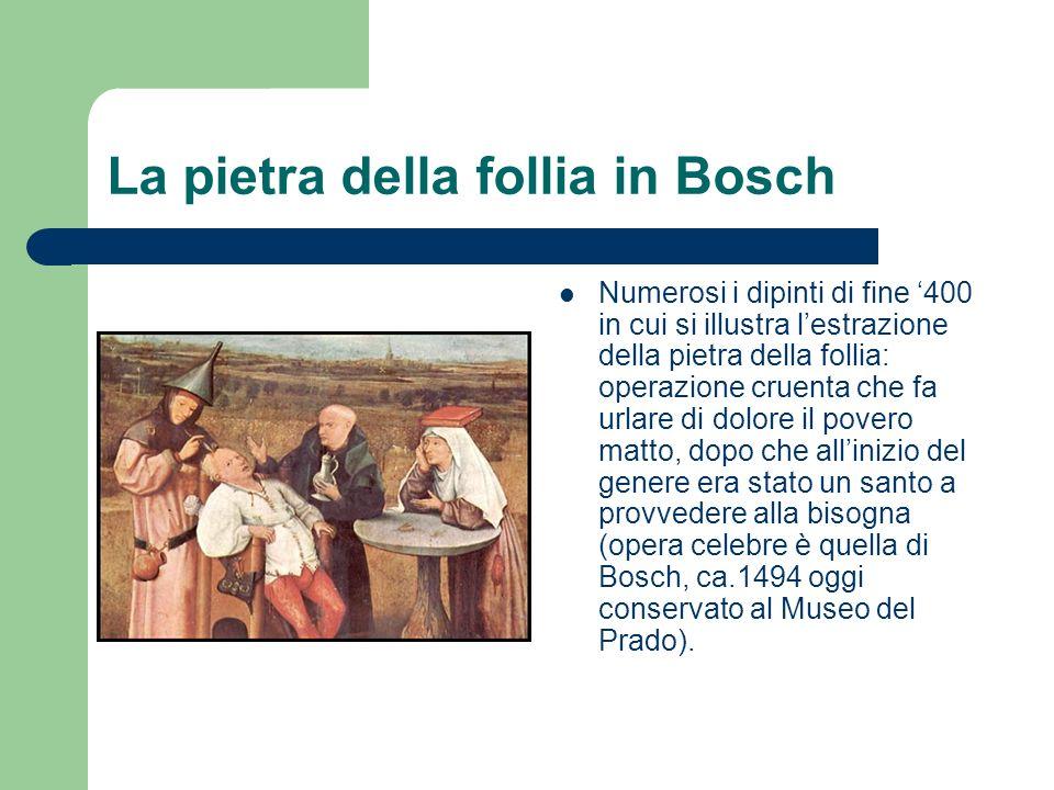 La pietra della follia in Bosch