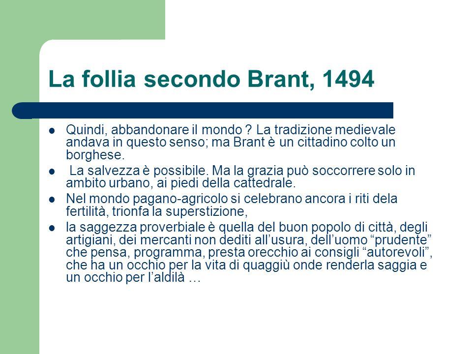 La follia secondo Brant, 1494