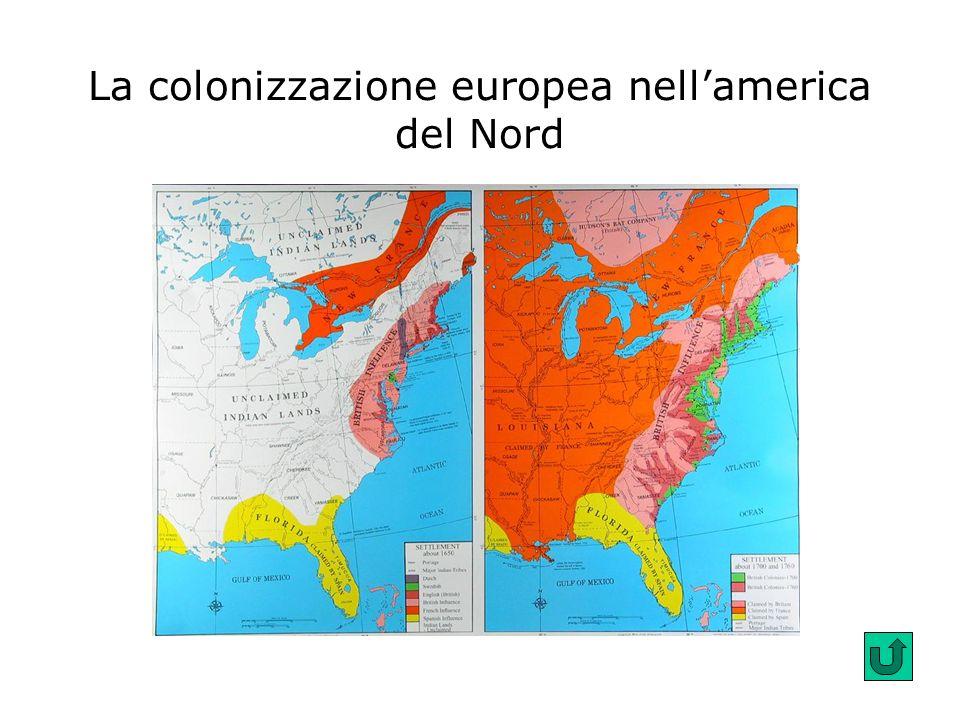 La colonizzazione europea nell'america del Nord