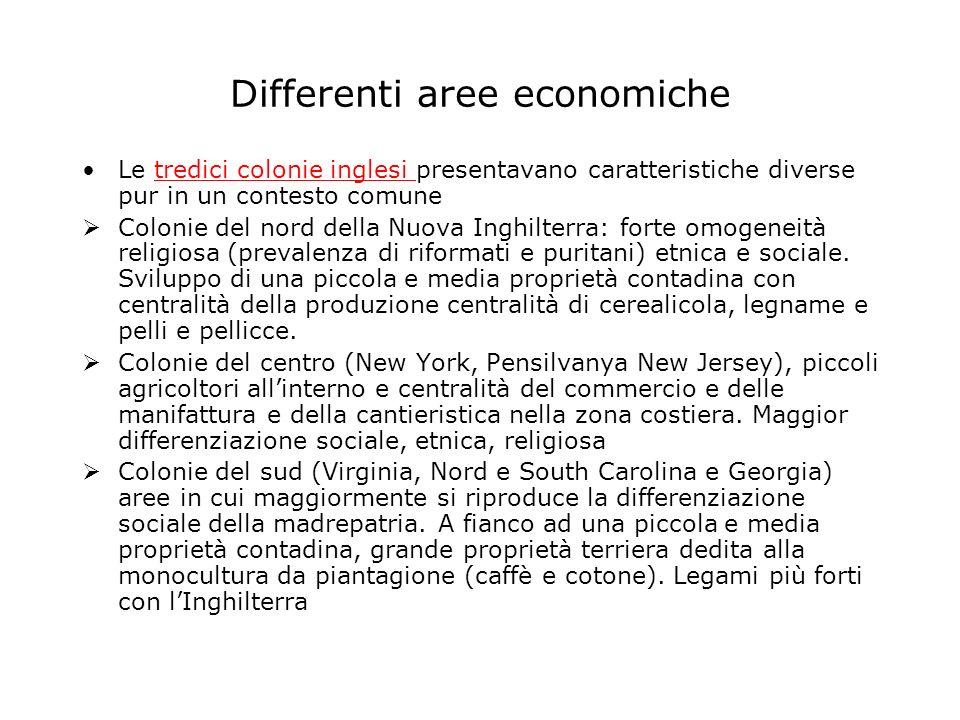 Differenti aree economiche