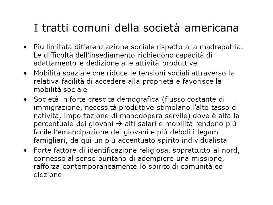 I tratti comuni della società americana