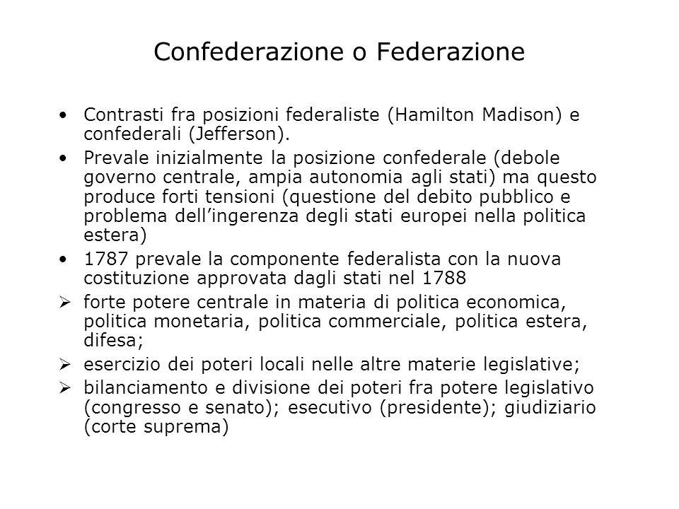 Confederazione o Federazione