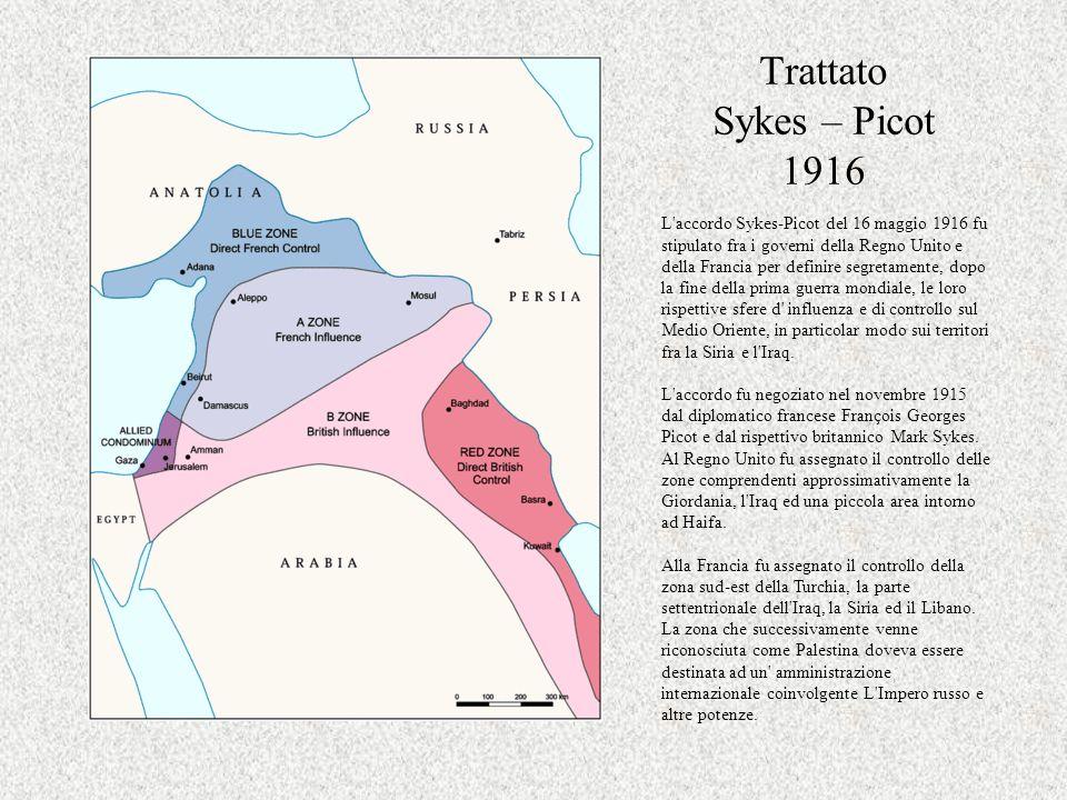 Trattato Sykes – Picot 1916