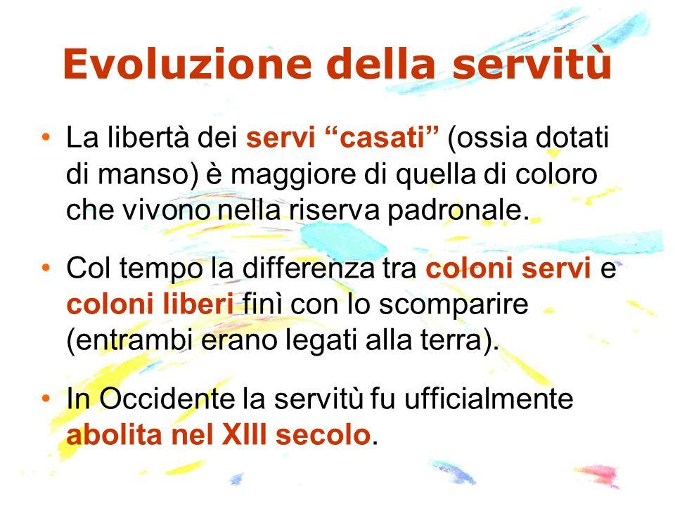 Evoluzione della servitù