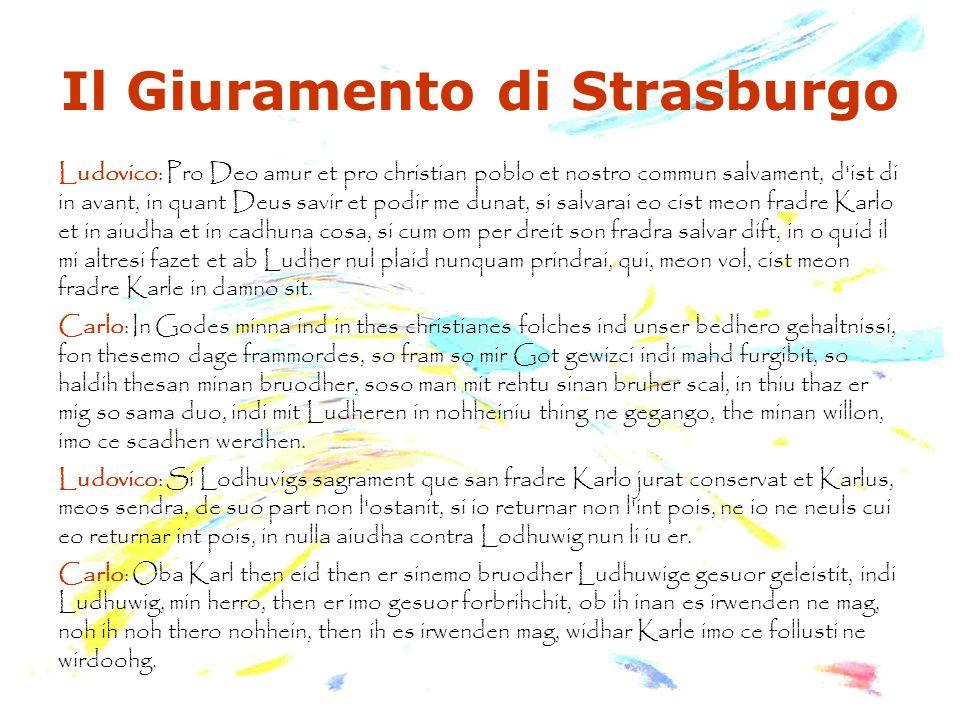 Il Giuramento di Strasburgo