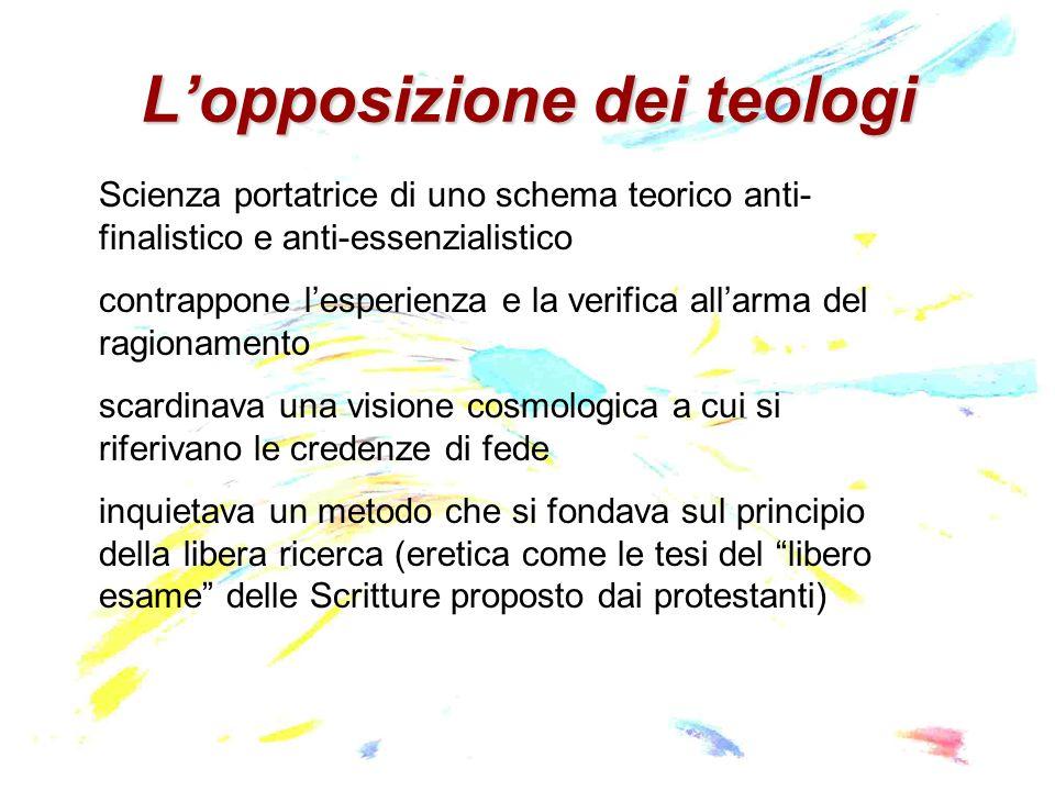 L'opposizione dei teologi