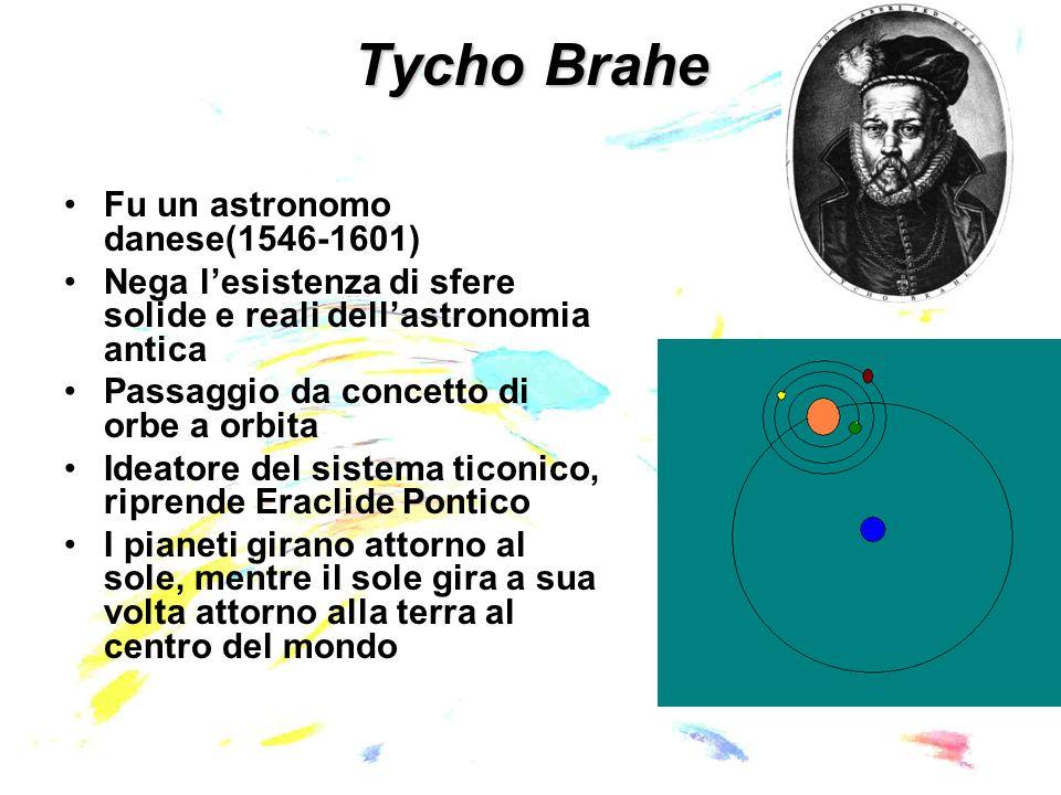 Tycho Brahe Fu un astronomo danese(1546-1601)