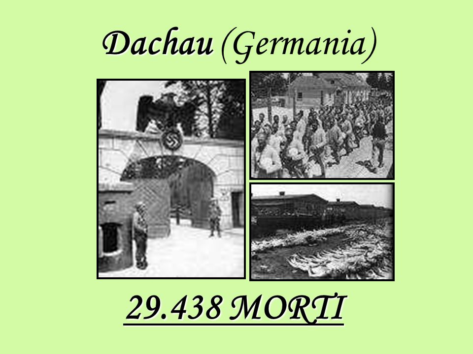 Dachau (Germania) 29.438 MORTI