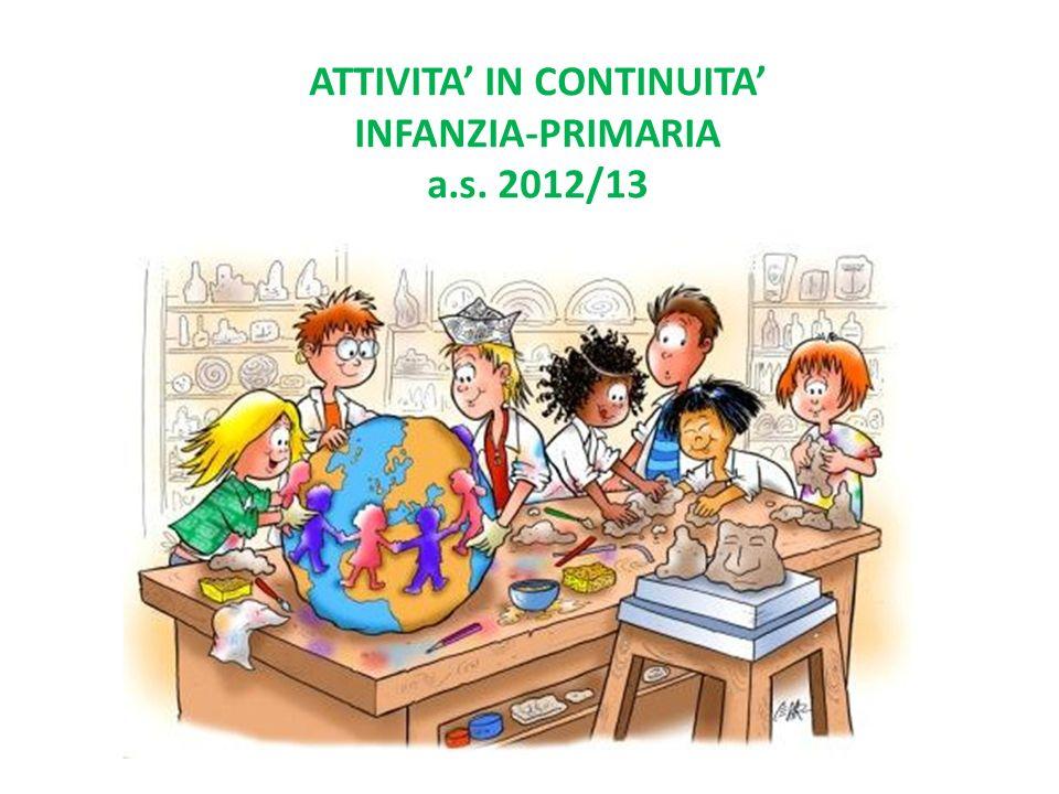 ATTIVITA' IN CONTINUITA' INFANZIA-PRIMARIA a.s. 2012/13