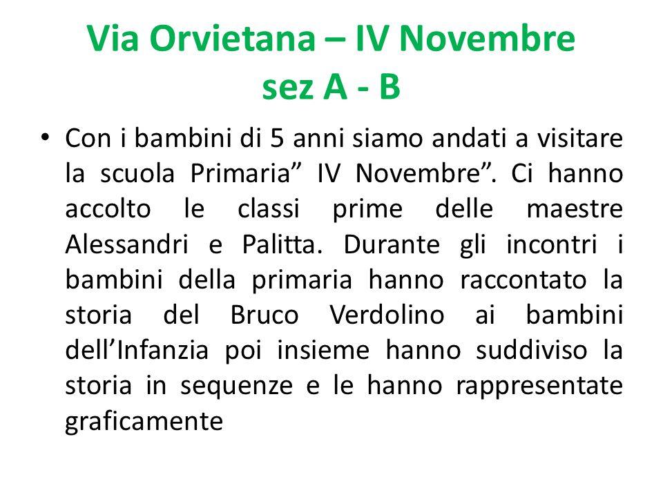 Via Orvietana – IV Novembre sez A - B