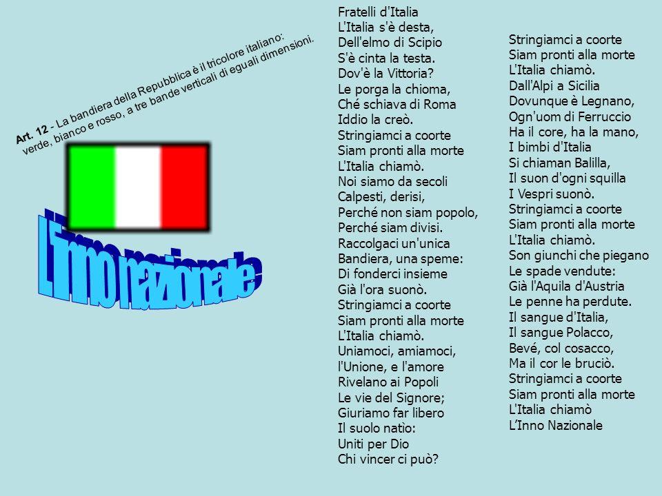 L inno nazionale Fratelli d Italia L Italia s è desta,