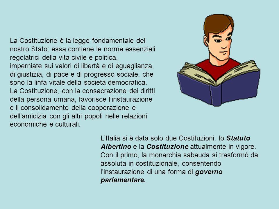 La Costituzione è la legge fondamentale del