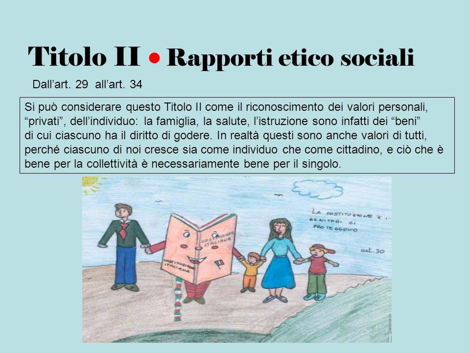 Titolo II • Rapporti etico sociali