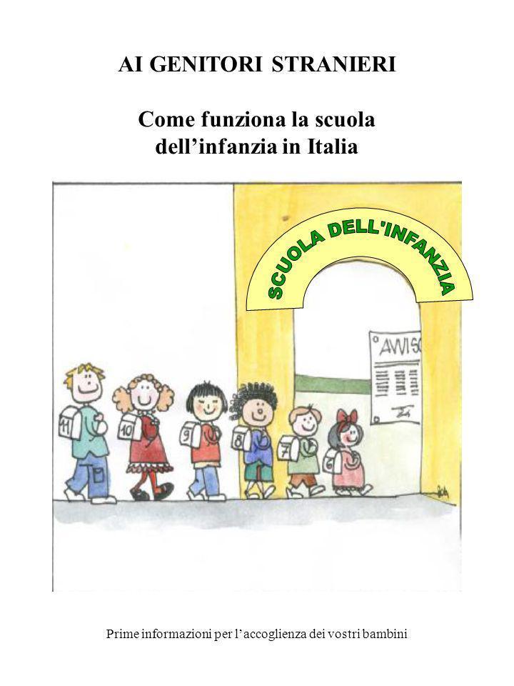 Come funziona la scuola dell'infanzia in Italia