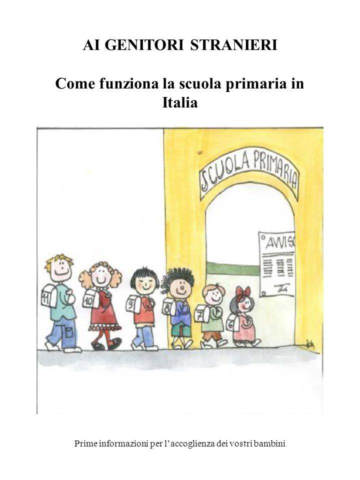 Come funziona la scuola primaria in Italia