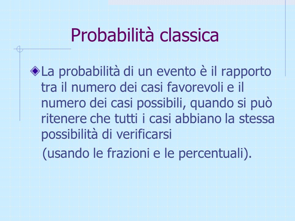 Probabilità classica