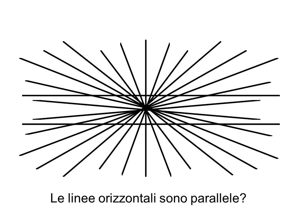 Le linee orizzontali sono parallele