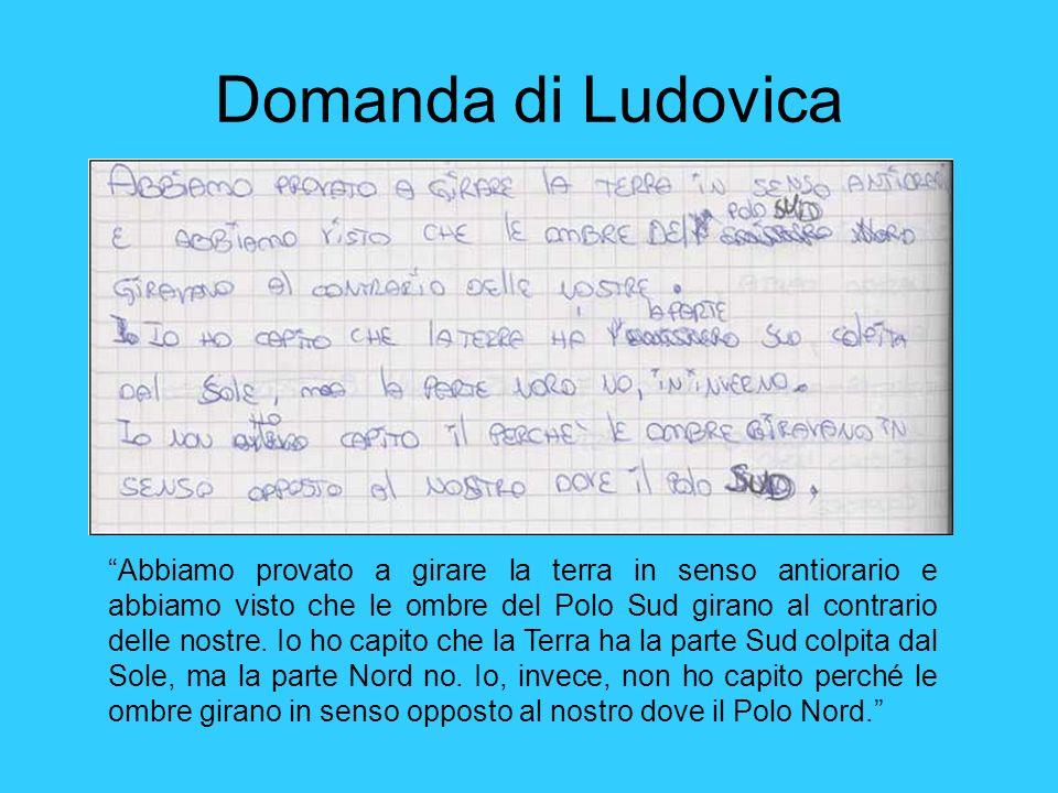 Domanda di Ludovica