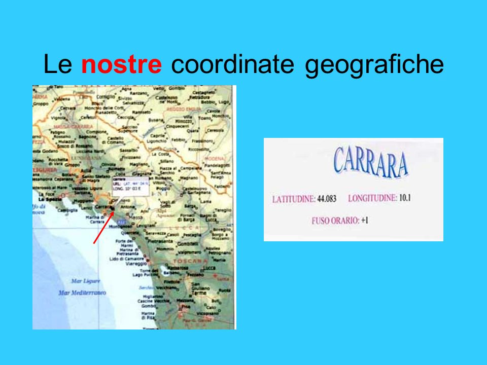 Le nostre coordinate geografiche