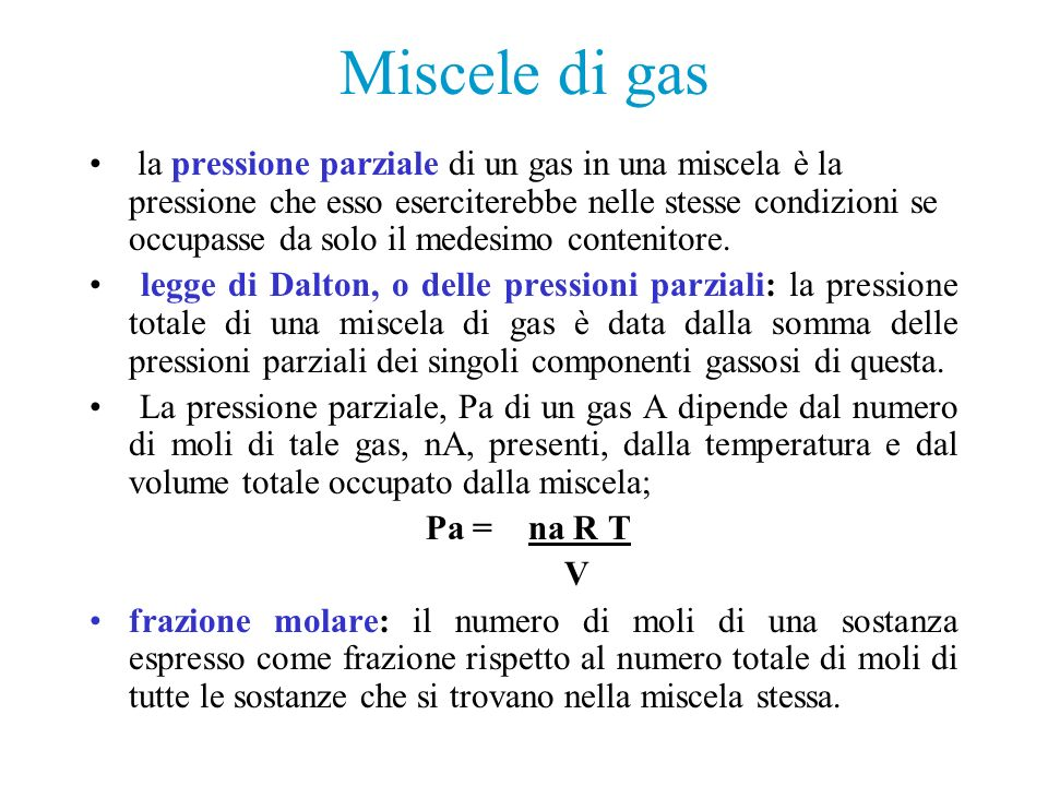 Miscele di gas