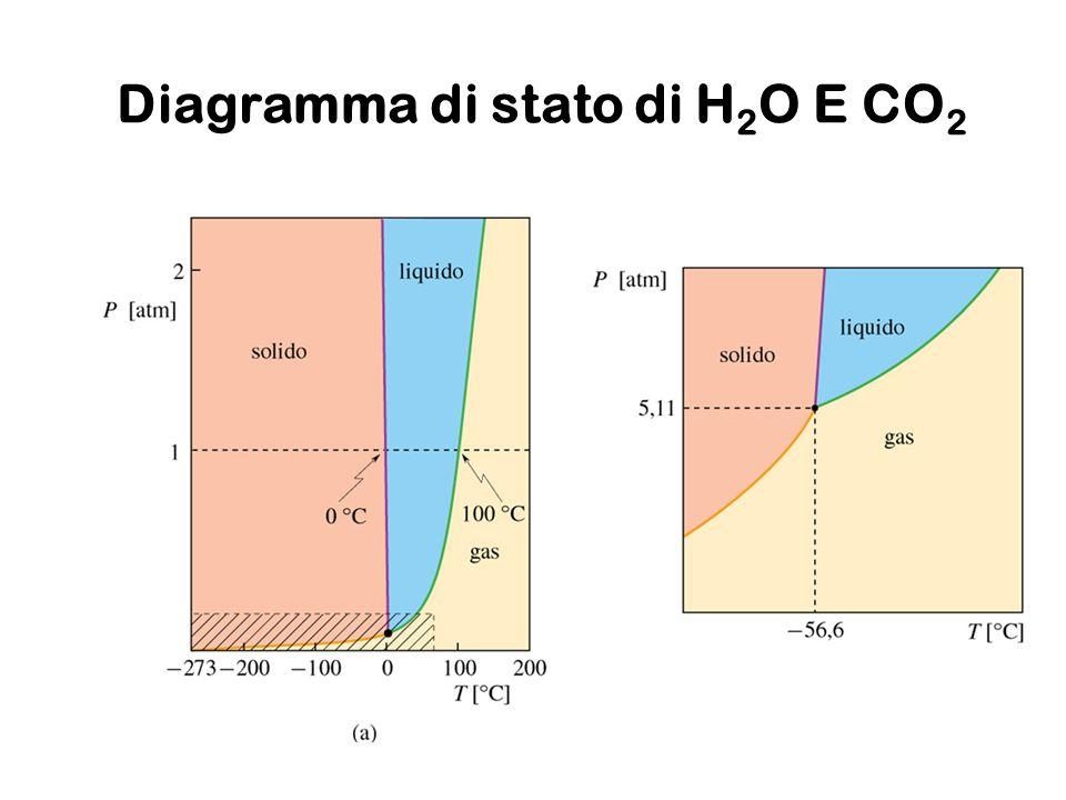 Diagramma di stato di H2O E CO2