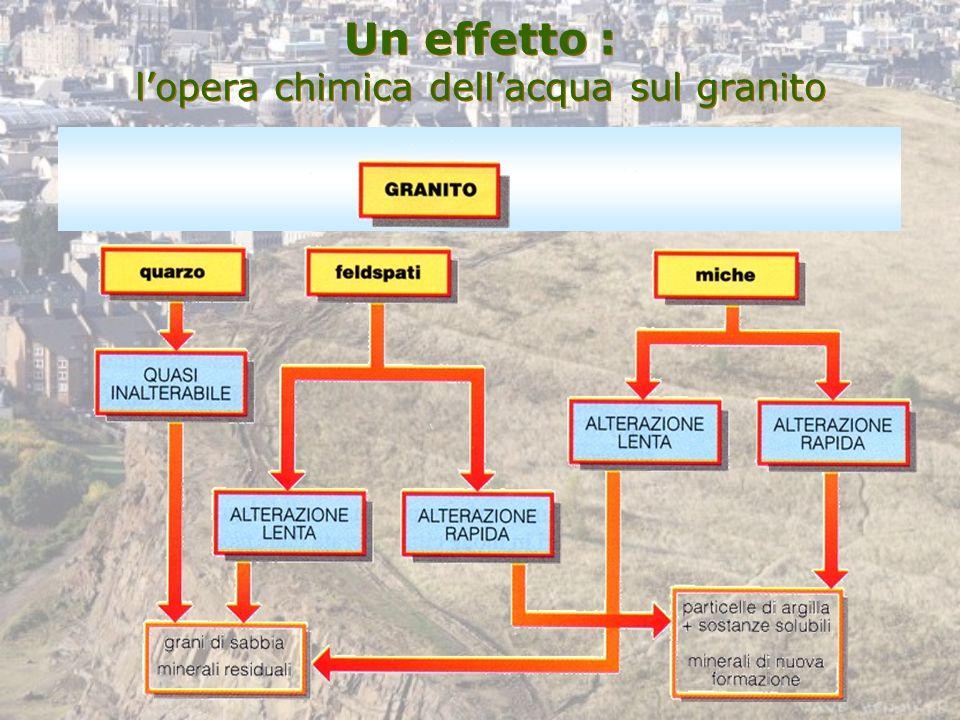 Un effetto : l'opera chimica dell'acqua sul granito