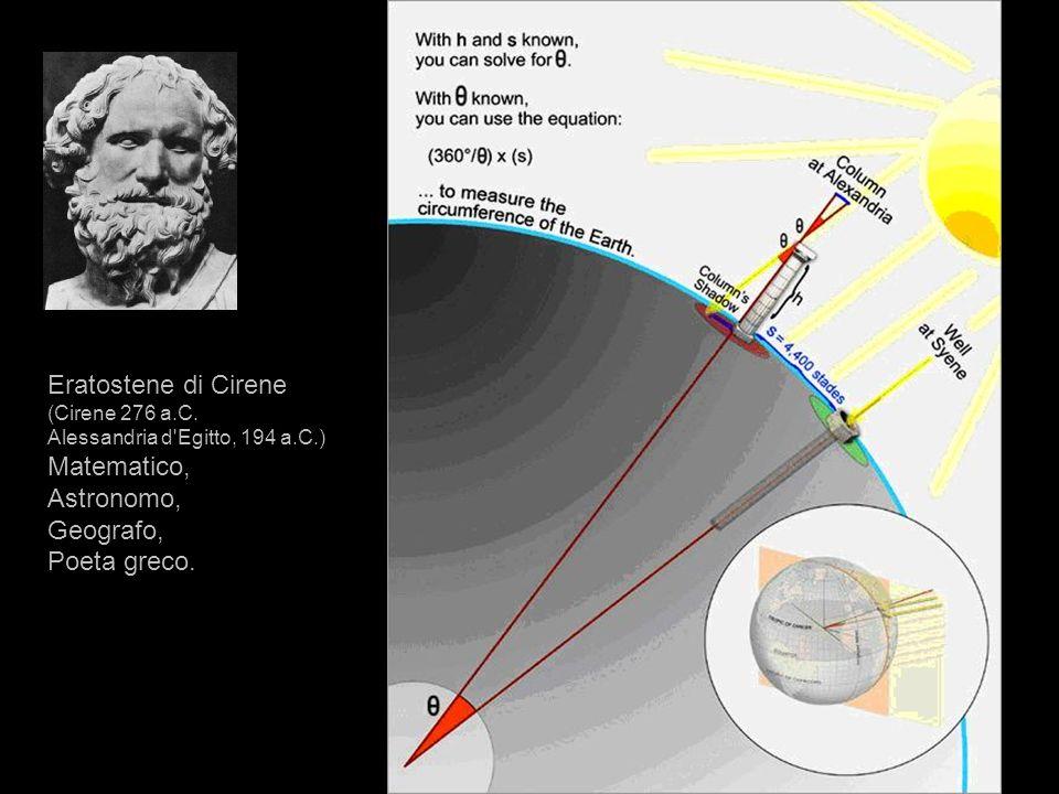 Eratostene di Cirene Matematico, Astronomo, Geografo, Poeta greco.